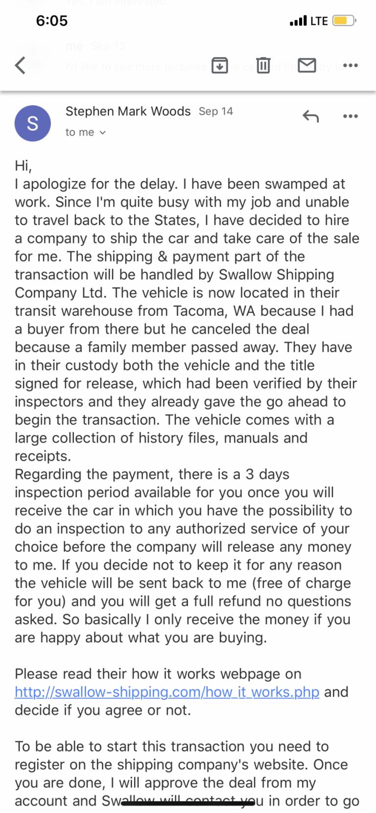 Swallow Shipping Company